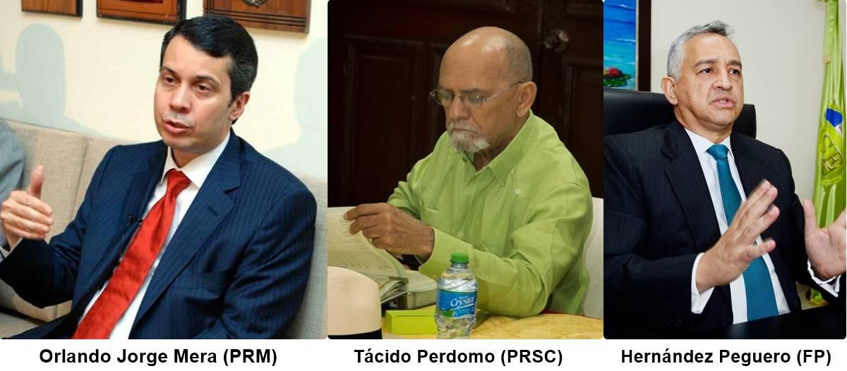 Jorge Mera, Tácido Perdomo y Hernández Peguero